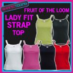 LADIES WOMENS LADY FIT STRAP TOP TSHIRT VEST FRUIT OF THE LOOM BRAND